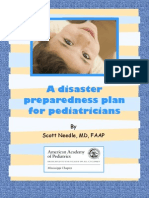 Disaster Prep Plan for Peds
