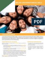 Convocatoria Becas Universitarias 2012