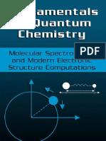 16301595 Fundamentals of Quantum Chemistry Molecular Spectroscopy and Modern