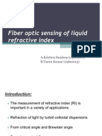 Fiber Optic Sensing of Liquid Refractive Index