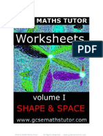 E-book of worksheets on 'Shape & Space' (Geometry & Trigonometry)