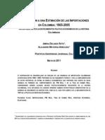 Modelo Econometrico de Importaciones Colombia