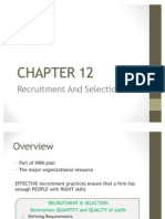 ACCA F1 Quick Notes Chapter 12 - Recruitment and Selection