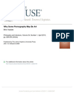 Why Some Pornography May Be Art
