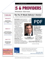 Payers & Providers Midwest Edition – Issue of January 24, 2012
