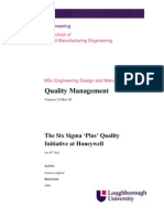 Course Work Assignment - Quality Management