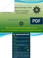 Resumen actividades AgrupSiempreVerde 2011