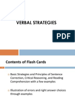 Verbal Flashcards
