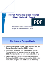 ML112420551 - North Anna Nuclear Power  Plant Plant Seismic Event