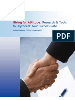Hiring for Attitude Skyrocket Success