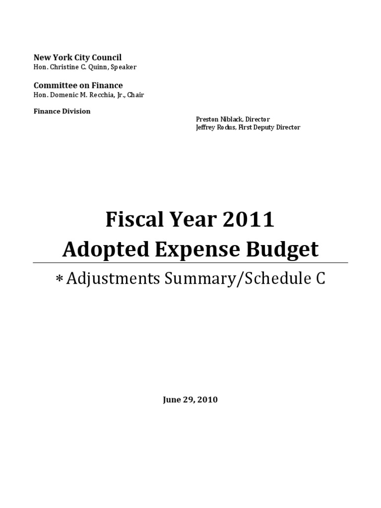 FY2011SkedC | Preventive Healthcare | Appropriations Bill (United