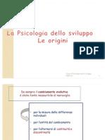 2. La Psicologia Dello Sviluppo. Le Origini