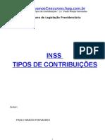 APOSTILA - Direito Previdenciário - INSS - Tipos de Contribuições - Paulo