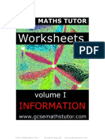 E Book -  Worksheets Vol. 1 - Information