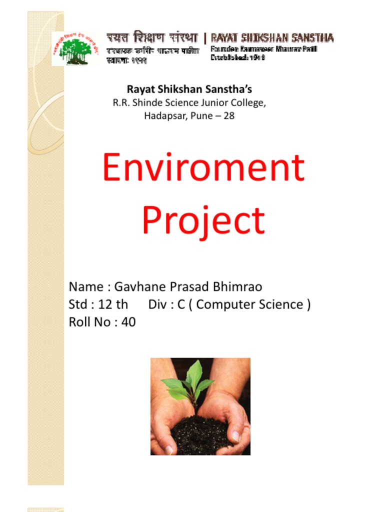 😎 Evs project biodiversity pdf  Evs Project on Global Warming PDF