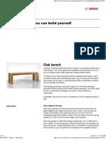 Bosch DIY - Project - Oak Bench