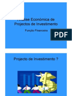Análise Económica de Projectos de Investimento