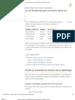Dividir Nombres Con El Asistente Para Convertir Texto en Columnas - Excel - Office