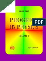 Progress in Physics 2007