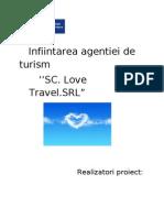 Infiintarea Agentiei de Turism SC Love Travel SRL