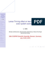 L. Iorio- Lense-Thirring effect on two-body range in solar system scenarios