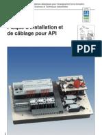 wi120430 Plaque d'installation et de c¬blage pour API