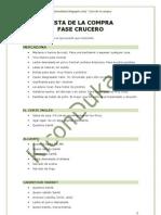 Lista de la compra para Fase de Crucero en la dieta Dukan