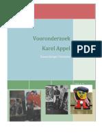 A. Vooronderzoek Karel Appel