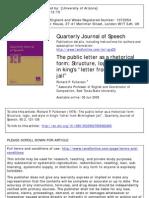 The Public Ltter as a Rhetorical Form_Richard Fulkerson