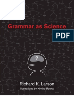 Grammar as Science (Larson) LIN2310