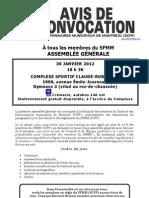 Assemblée Générale 30-01-2012