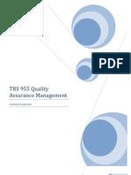 TBS 955 Quality Assurance Management