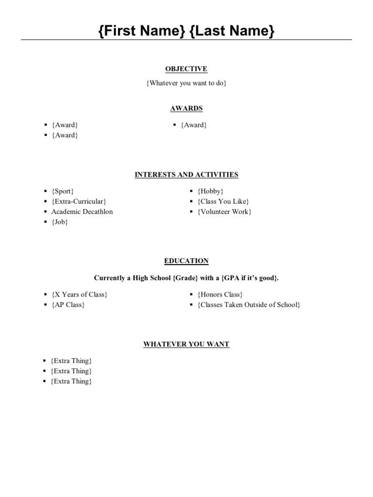 academic decathlon resume