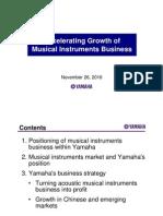 Yamaha - Musicial Instrument Plan 2013