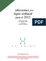 Predicciones 2012 para cada Signo Zodiacal del Arcángel Uriel