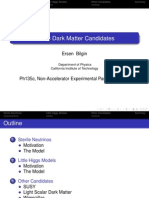 Ersen Bilgin- Exotic Dark Matter Candidates