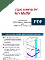 Carlo Rubbia- Underground searches for Dark Matter