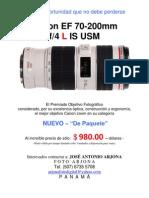 Canon 70 200 f4l is Usm Venta Arjona 2