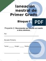 1er Grado - Bloque I - Proyecto 2