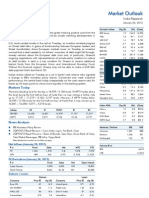 Market Outlook 25th January 2012