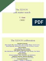 T. Shutt- The XENON dark matter search
