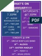 Kawana Surf Club | Whats on Jan 2012