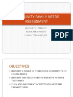 Community Family Needs Assessment