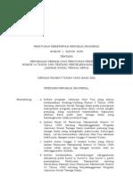 01 Tahun 2009 PP Tentang Perubahan Keenam Atas PP No. 14 Tahun 1993 Tentang Penyelenggaraan Program Jamsostek