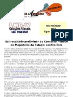 Sai resultado preliminar do Concurso Público do Magistério do Estado; confira lista