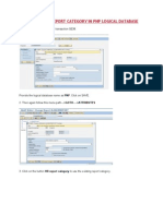 Creating Hr Report Category in Pnp Logical Database