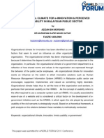 Organizational Climate for E-Innovation & Perceived Hrmis Usability in Malaysian Public Sector- Azizan Bin Morshidi, Dr Nurhizam Safie Mohd Satar and Fauzie Sarjono