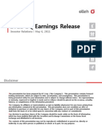 Earnings Release Q1