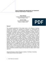 A Bayesian Approach to Modelling Uncertainty in Transport Infrastructure Project Forecasts