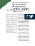 Baldrige Assessment and Organizational Learning